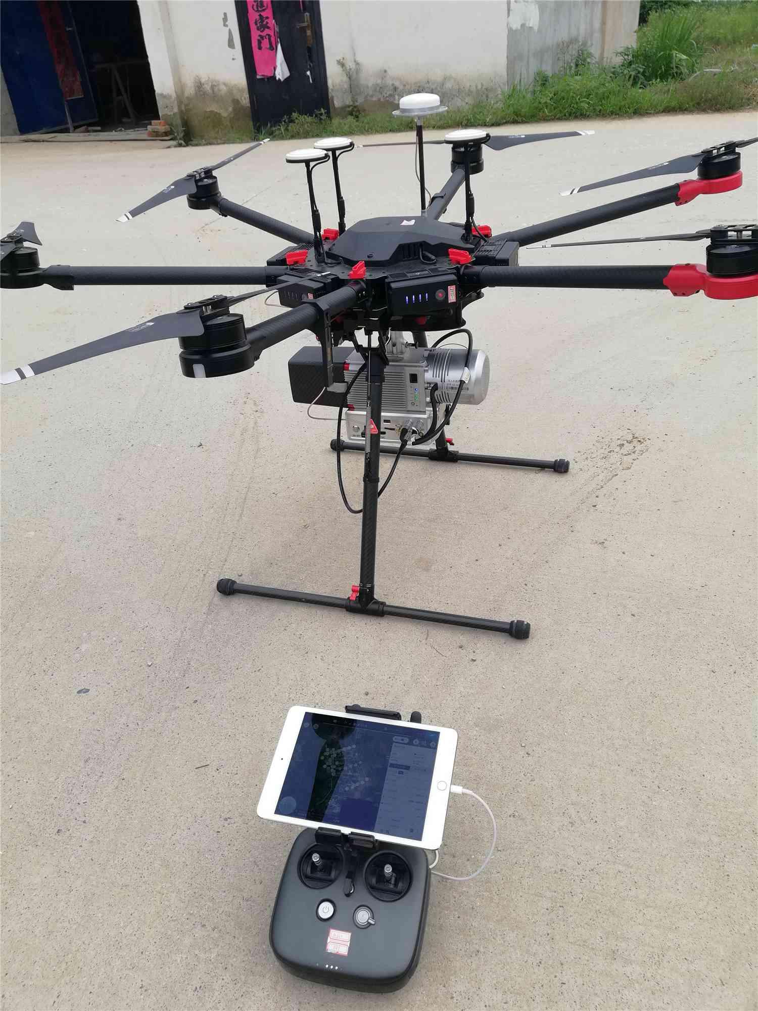 无人机搭载激光雷达培训实测现场