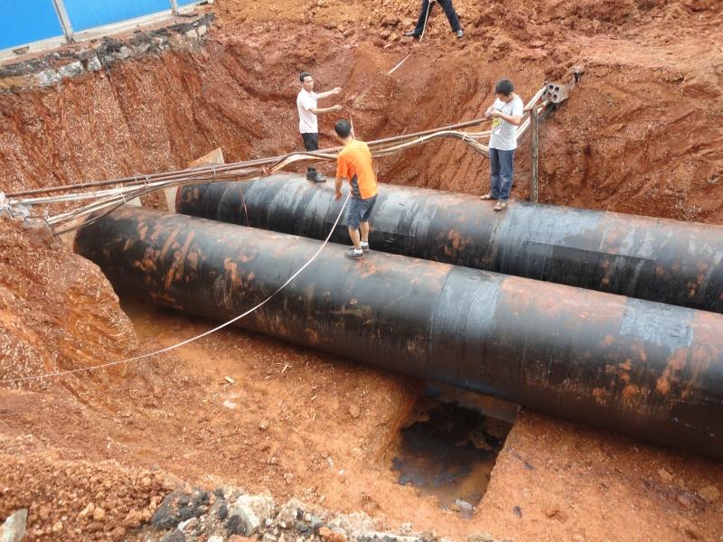 望城水厂扩建DN1400钢板管安装5000米