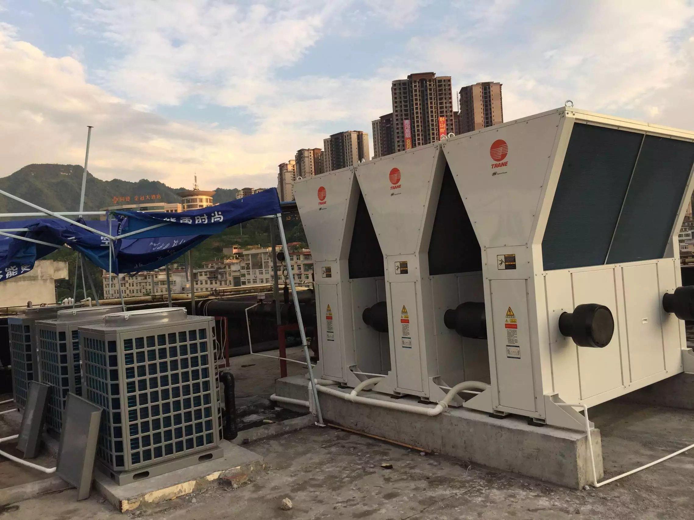 重庆天龙大酒店中央空调热水项目