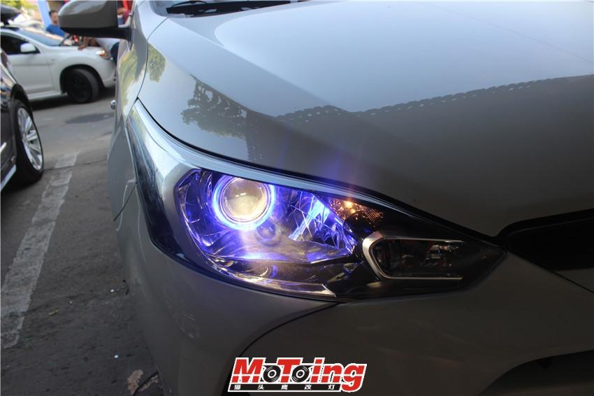 丰田17款致享车灯改装案例