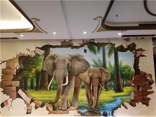 3d壁画背景墙效果图