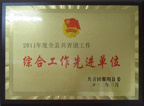 2011年度綜合工作先進單位