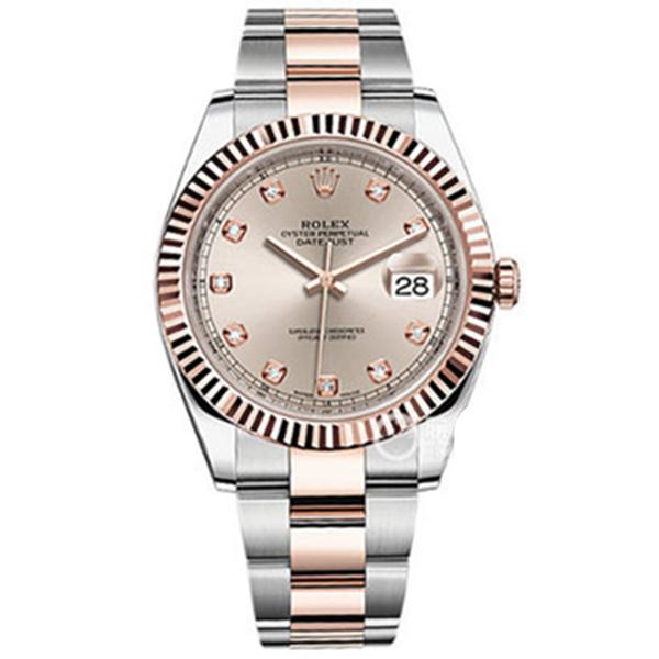 【N厂】劳力士日志型系列126331粉盘镶钻男士机械腕表