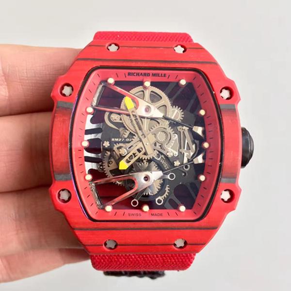理查德米勒NTPT锻造碳纤维RM27-02镂空自动机械红色腕表