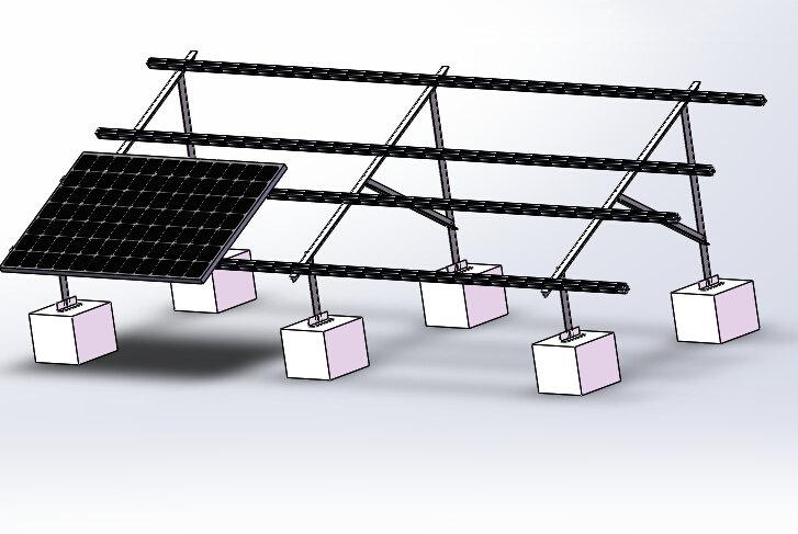 水泥平屋面威廉体育app角铝支架(前后立柱)