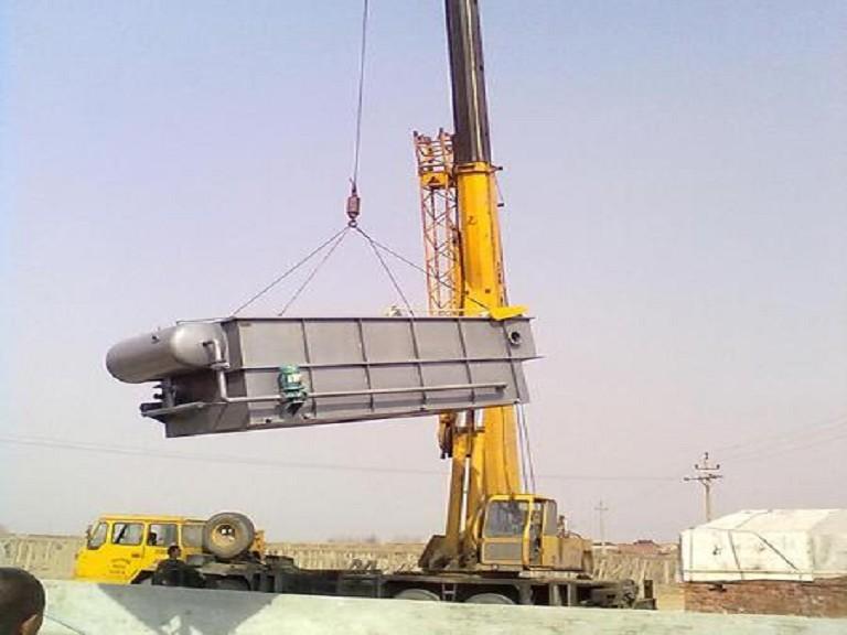 气浮设备更换施工中