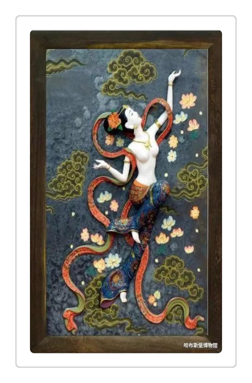 陶瓷浮雕   飞天《彩带飞舞》