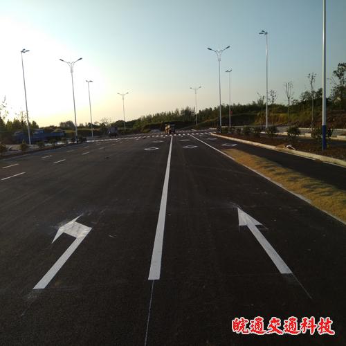 来安县环城西路道路划线