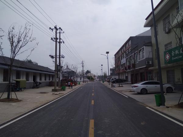 全椒六镇美丽乡村道路标线施工
