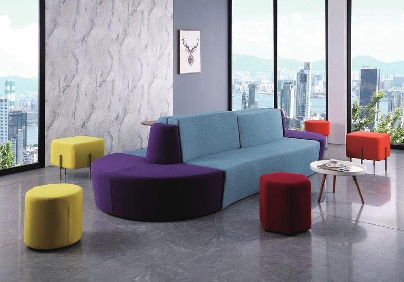 时尚休闲沙发布艺方凳绒布圆凳麻绒布六角凳亚博app苹果下载地址组合沙发