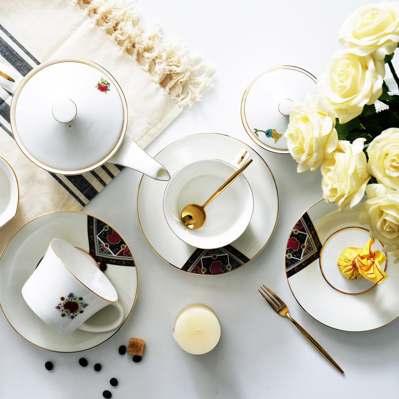 牡丹咖啡具