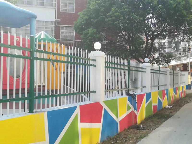 幼儿园锌钢围墙护栏